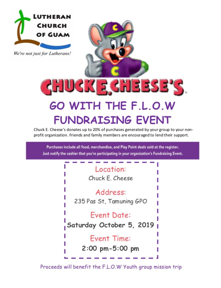 Youth Group Chuck E. Cheese Fundraiser @ Chuck E. Cheese