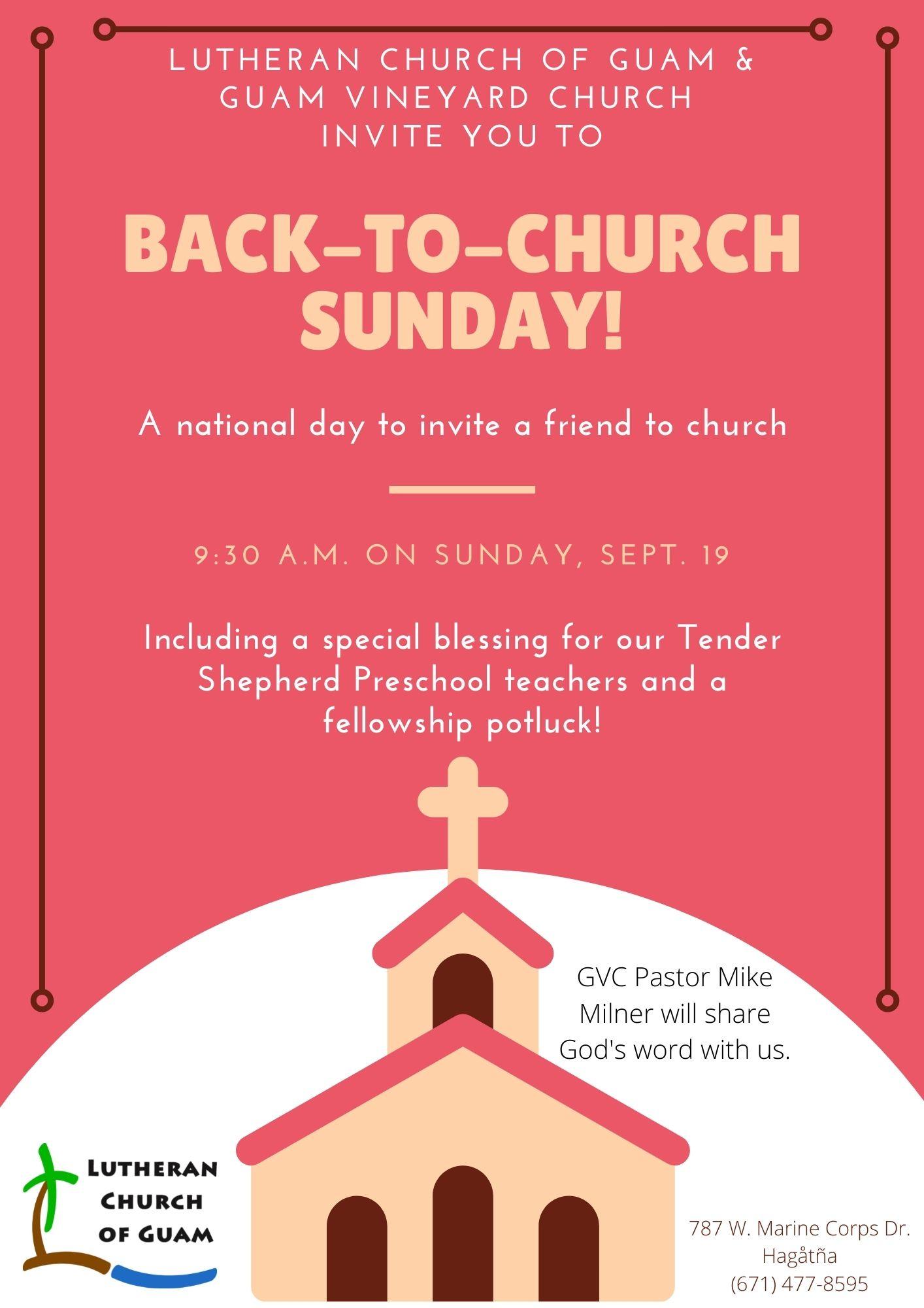 Back-to-Church Sunday!